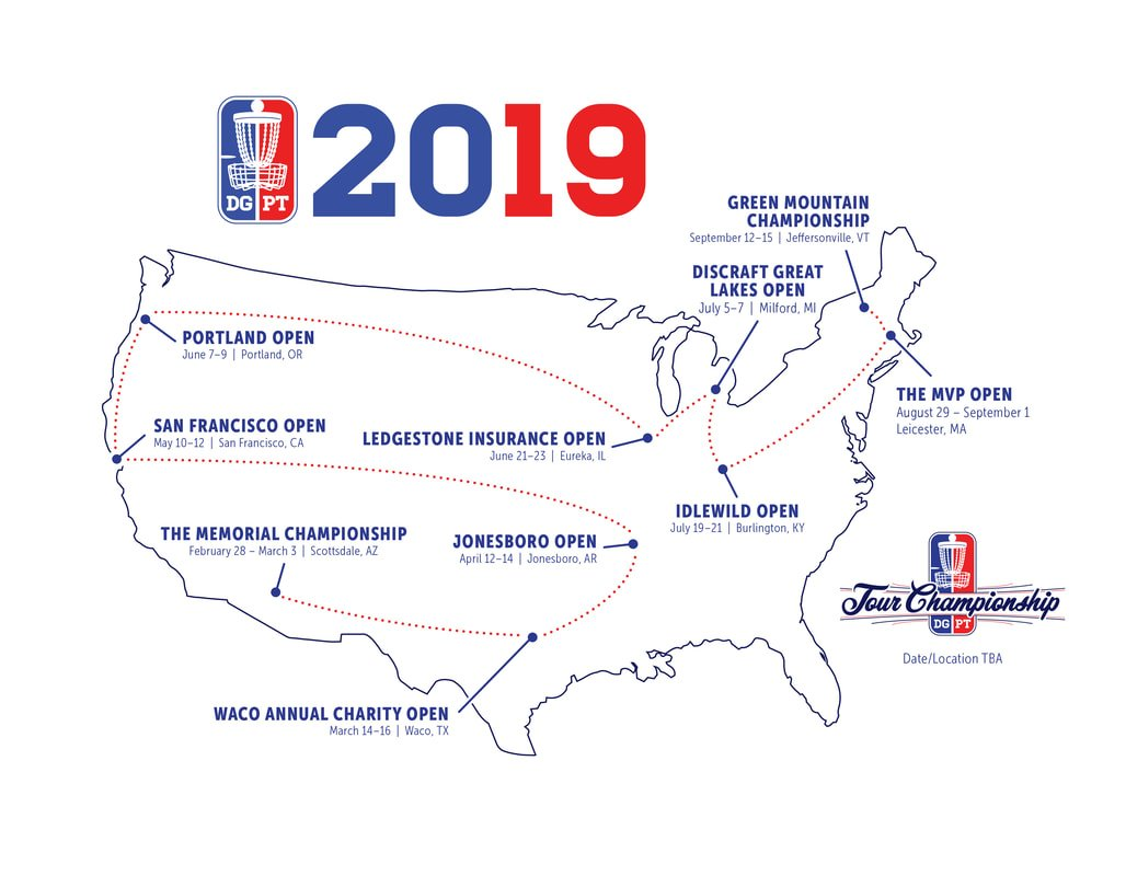 Bring On Year 4: 2019 Disc Golf Pro Tour Schedule